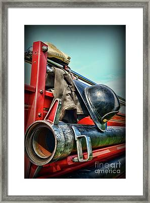 Fireman-we Are Always Ready  Framed Print
