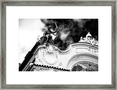 Framed Print featuring the photograph Fireman's Rescue by John Rizzuto