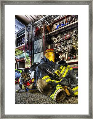 Firemen Always Ready For Duty - Fire Station - Union New Jersey Framed Print