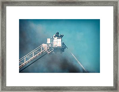 Firemen Dousing Flames  Framed Print by Todd Klassy