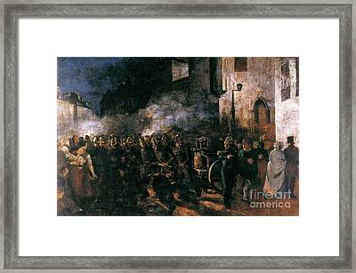 Firemen Running To A Fire  Framed Print by MotionAge Designs
