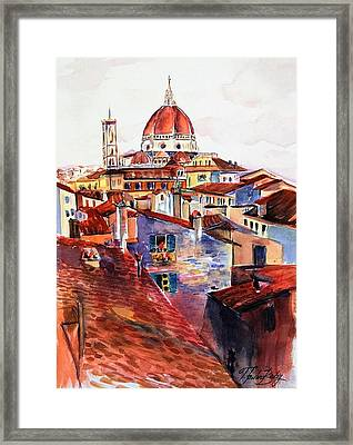 Firenza Doumos Italy Framed Print by Therese Fowler-Bailey