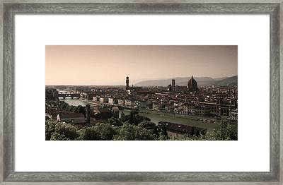 Firenze At Sunset Framed Print by Andrew Soundarajan