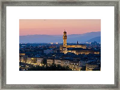 Firenze At Sunset Framed Print