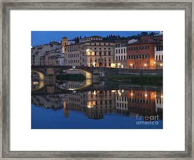 Firenze Blue I Framed Print by Kelly Borsheim