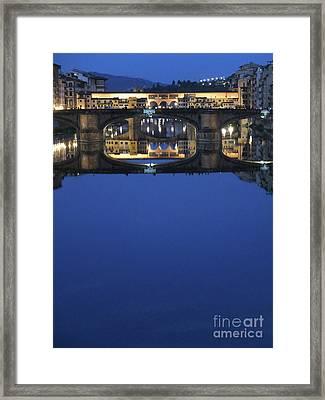 Firenze Blue IIi Framed Print by Kelly Borsheim