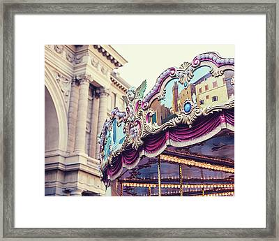Framed Print featuring the photograph Firenze Carousel by Melanie Alexandra Price