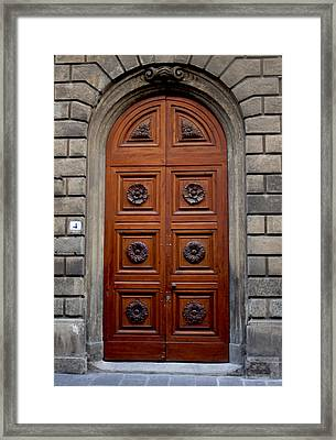 Firenze Door Framed Print by Ivete Basso Photography