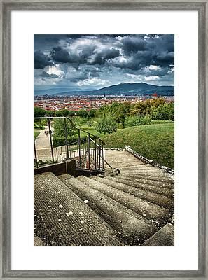 Firenze From The Boboli Gardens Framed Print