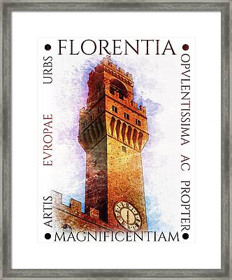 Firenze Magnifica Framed Print