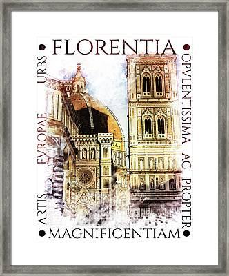 Firenze Magnifica Iv Framed Print