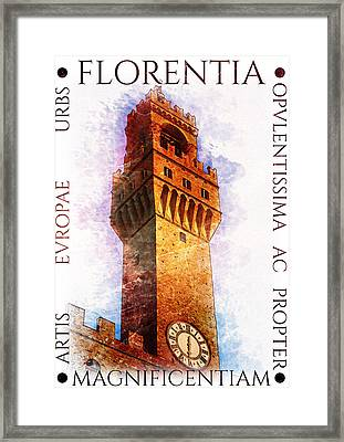Firenze Magnifica Framed Print by Diana Van