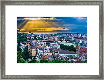 Firenze Sunset Framed Print by Inge Johnsson