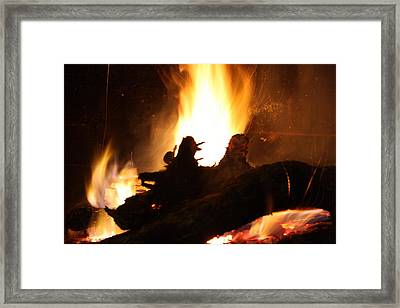 Fireplace II Framed Print by Ginger Barritt
