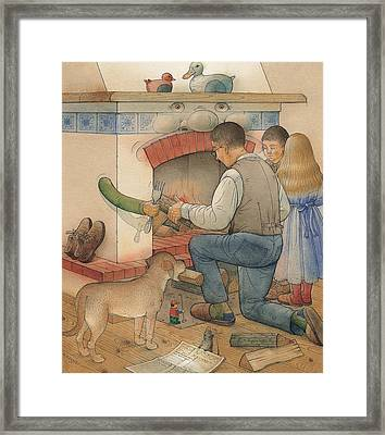 Fireplace Framed Print by Kestutis Kasparavicius