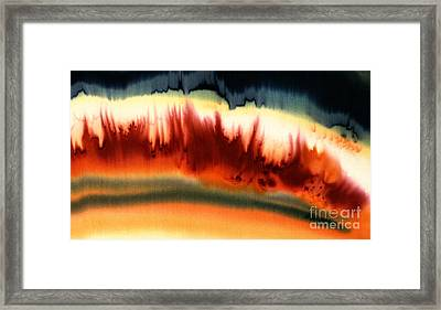 Fireside Framed Print by Addie Hocynec
