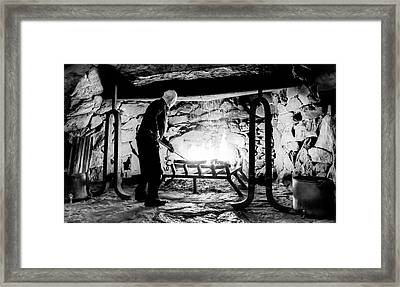 Fireside At The Grove Park Inn Framed Print by Karen Wiles