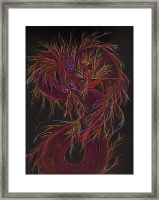 Framed Print featuring the drawing Fireside Chat by Dawn Fairies