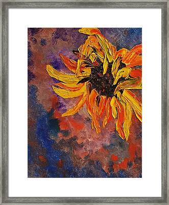 Firespace Flower  27 Framed Print