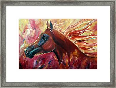 Firestalker Framed Print by Stephanie Allison