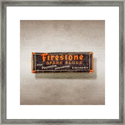 Firestone Spark Plugs Box Framed Print by YoPedro
