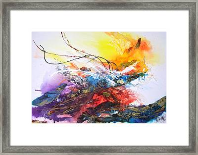 Firestorm Framed Print