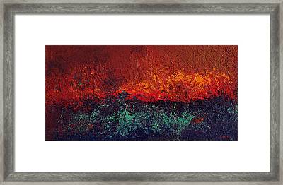 Firestorm Framed Print by Michael Lewis
