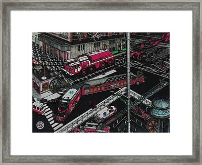 Firetrucks Framed Print by Richie Montgomery