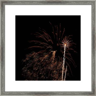 Firew0rks From A Boat - 12 Framed Print