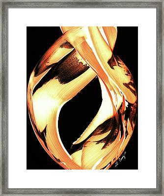 Firewater 1 - Buy Orange Fire Art Prints Framed Print