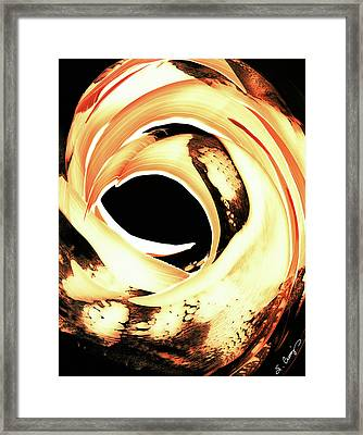Firewater 4 Framed Print by Sharon Cummings