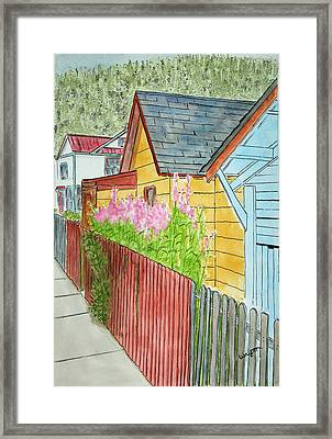 Fireweed In Juneau Framed Print by Larry Wright