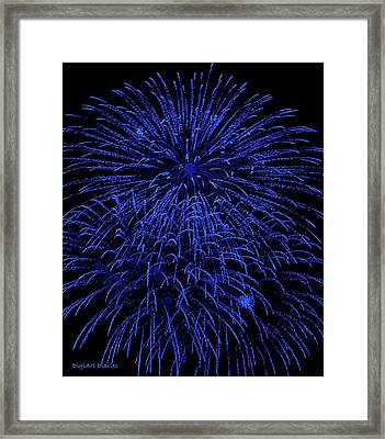 Firework Blues Framed Print by DigiArt Diaries by Vicky B Fuller