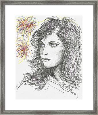 Firework Framed Print by Denise Fulmer