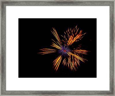 Firework Fun Framed Print by Dawn OConnor