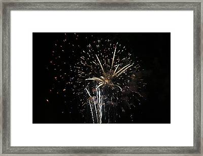 Firework In Action Framed Print by Magda Levin-Gutierrez