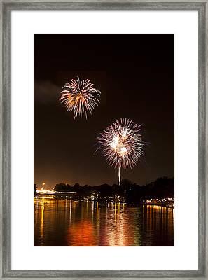 Firework Framed Print by Ulrich Schade