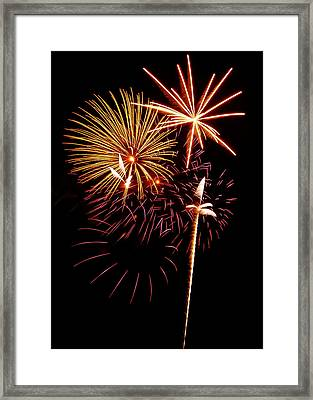 Fireworks 1 Framed Print by Michael Peychich