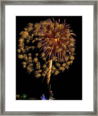 Framed Print featuring the photograph Fireworks 10 by Bill Barber