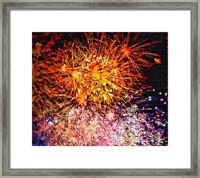 Fireworks 11 Framed Print by Joan Reese