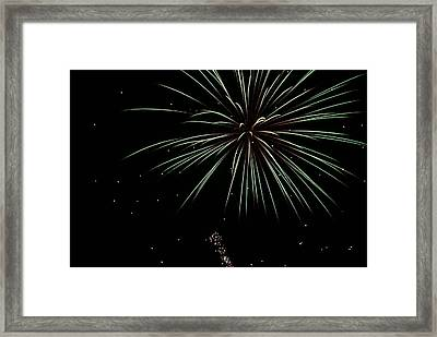 Framed Print featuring the photograph Fireworks 11 by Ron Read