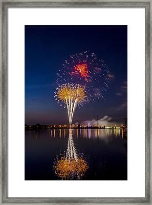 Fireworks - 11 Framed Print by Tom Clark