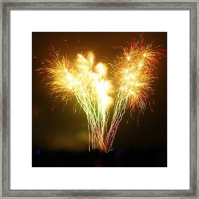 Fireworks 2 Framed Print by Oliver Johnston