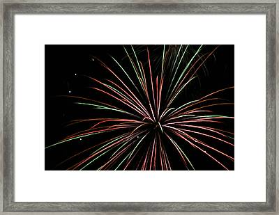 Framed Print featuring the photograph Fireworks 2 by Ron Read
