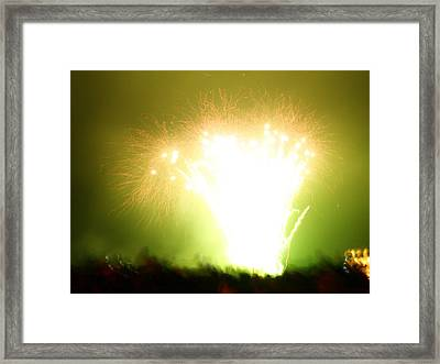 Fireworks 3 Framed Print by Oliver Johnston