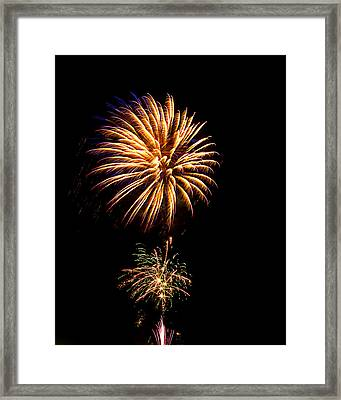 Fireworks 4 Framed Print by Bill Barber
