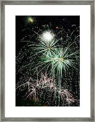Fireworks 4 Framed Print by Michael Peychich