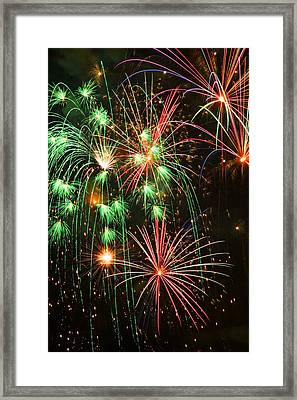 Fireworks 4th Of July Framed Print by Garry Gay