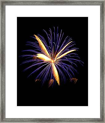 Framed Print featuring the photograph Fireworks 6 by Bill Barber