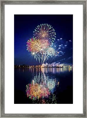 Fireworks - 7 Framed Print by Tom Clark